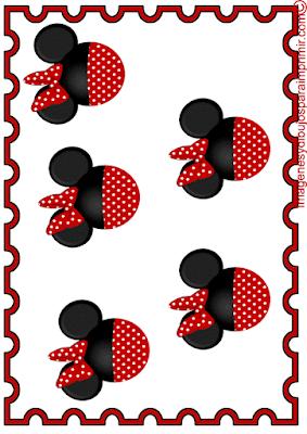 Minnnie mouse en manteles individuales para imprimir