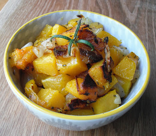 Roasted Herbed Butternut Squash from Top Ate on Your Plate