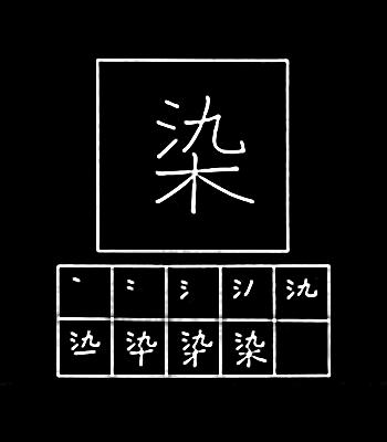 kanji memberi warna