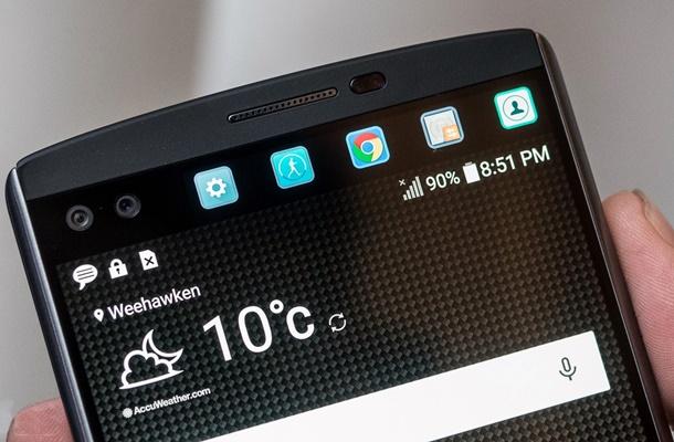 A tela secundária do LG V10