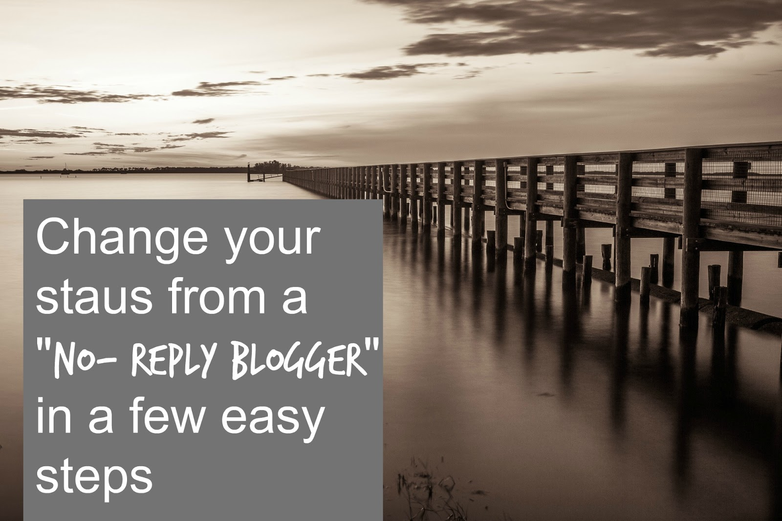 Change your no reply blogger status