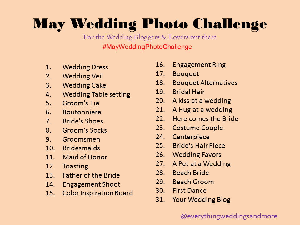 may wedding photo challenge you have been tagged