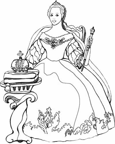 princess coloring pages, kids coloring pages title=