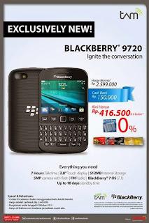BlackBerry 9720 Promo Cashback Rp 150.000