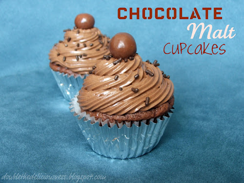 Double the Deliciousness: Chocolate Malt Cupcakes