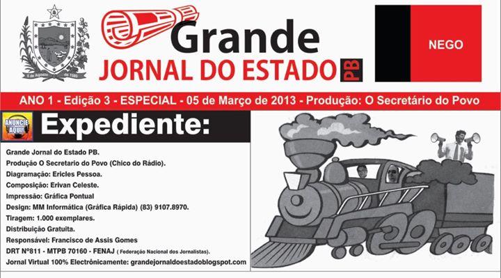 PRIMEIROS  BANNERS  DO GRANDE JORNAL DO ESTADO PB