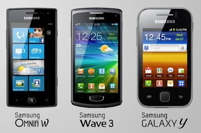 Samsung Omnia W, Galaxy Y and Wave 3 launched in India