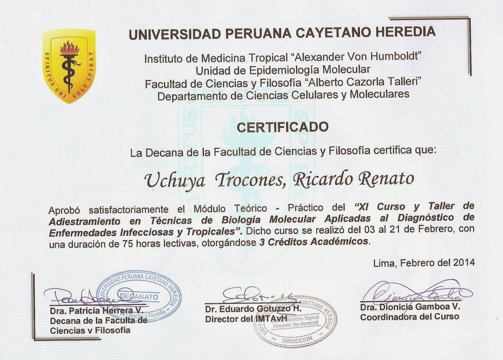 COACHING EN LA UPCH PARA LAS VIII OLIMPIADAS IBEROAMERICANAS DE BIOLOGIA OIAB MEXICO 2014.