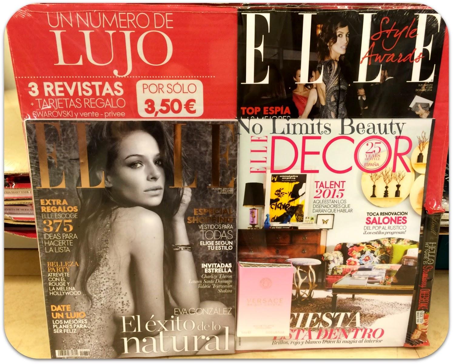 Regalos revistas Diciembre 2014: Elle