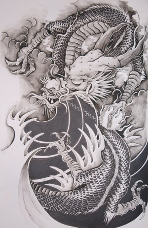 tattoo designs dragon. Dragon Tattoo Design SciFi and