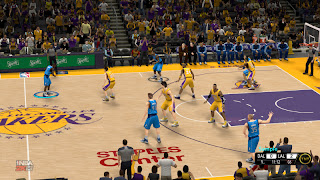 NBA 2K13 New Los Angeles Lakers Court Patch