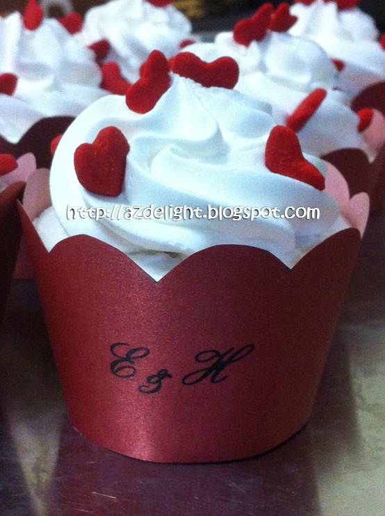 Red White Theme Wedding Cakes