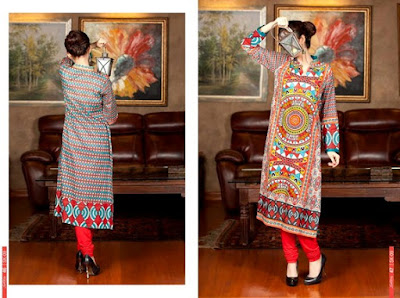 SALITEX - Designer Embroidered Lawn Kurti 2015-2016