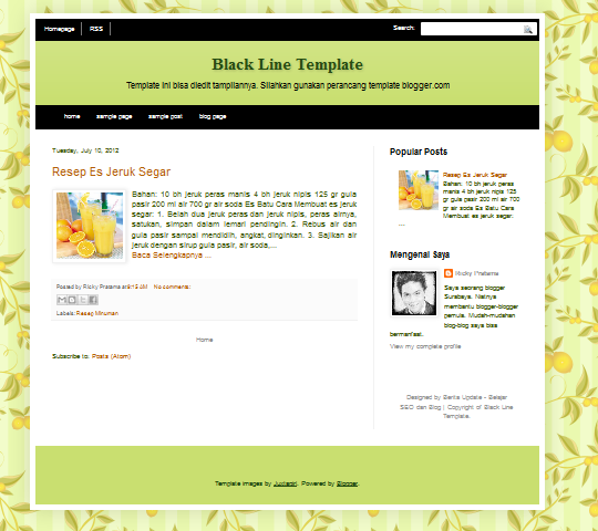 Template Blog SEO Friendly Black Line Editable (Bisa Diedit)