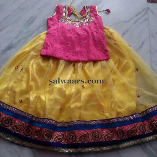 Light Yellow Lehenga Readily Available