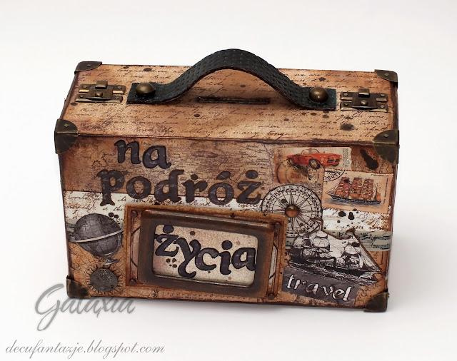Skarbonka w kształcie walizki