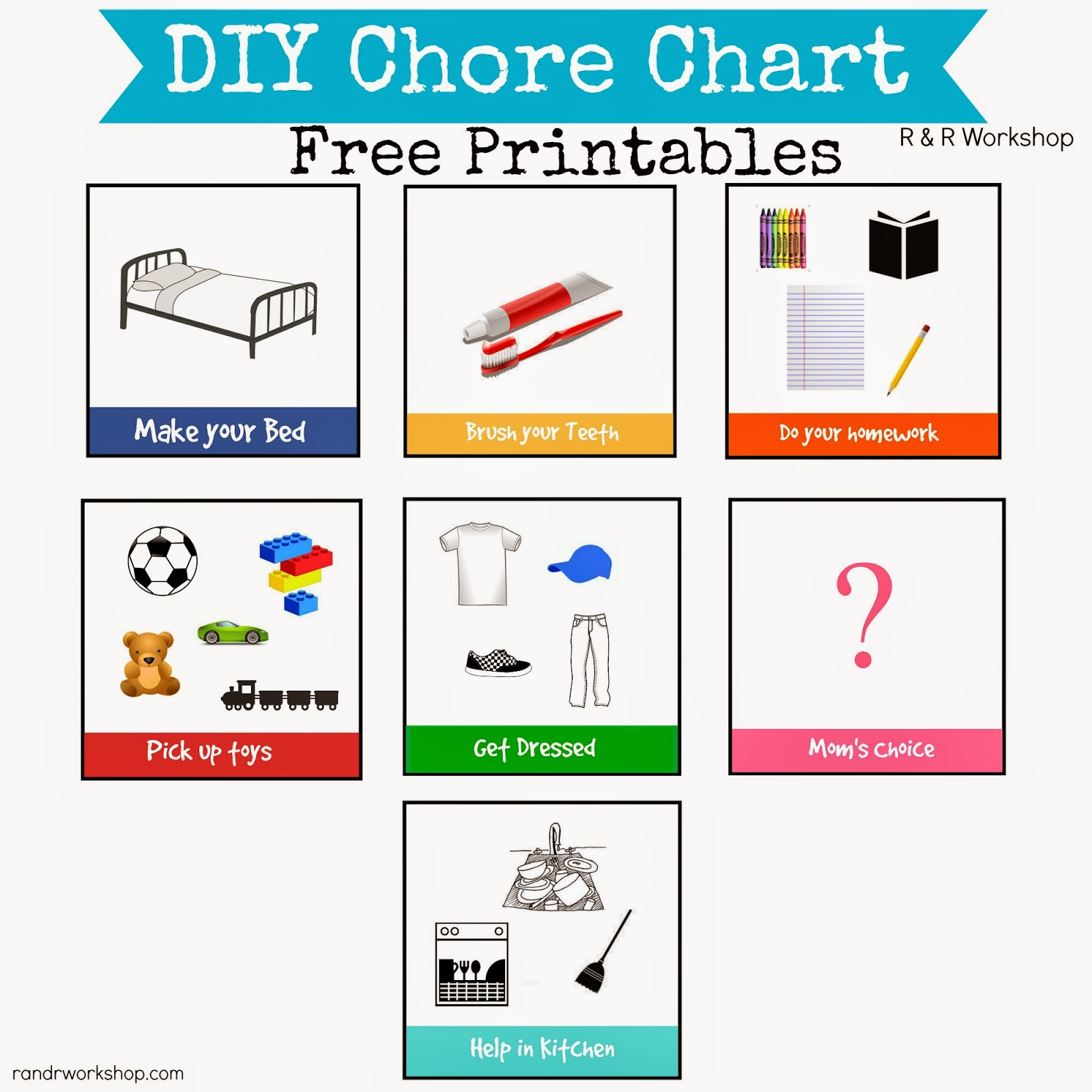 chore chart template free download