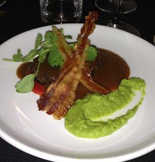 Castilla braised Shin of Beeft, Piquillo Pepper, Pea Puree