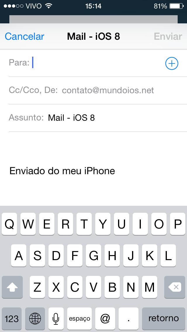 Mails iOS 8