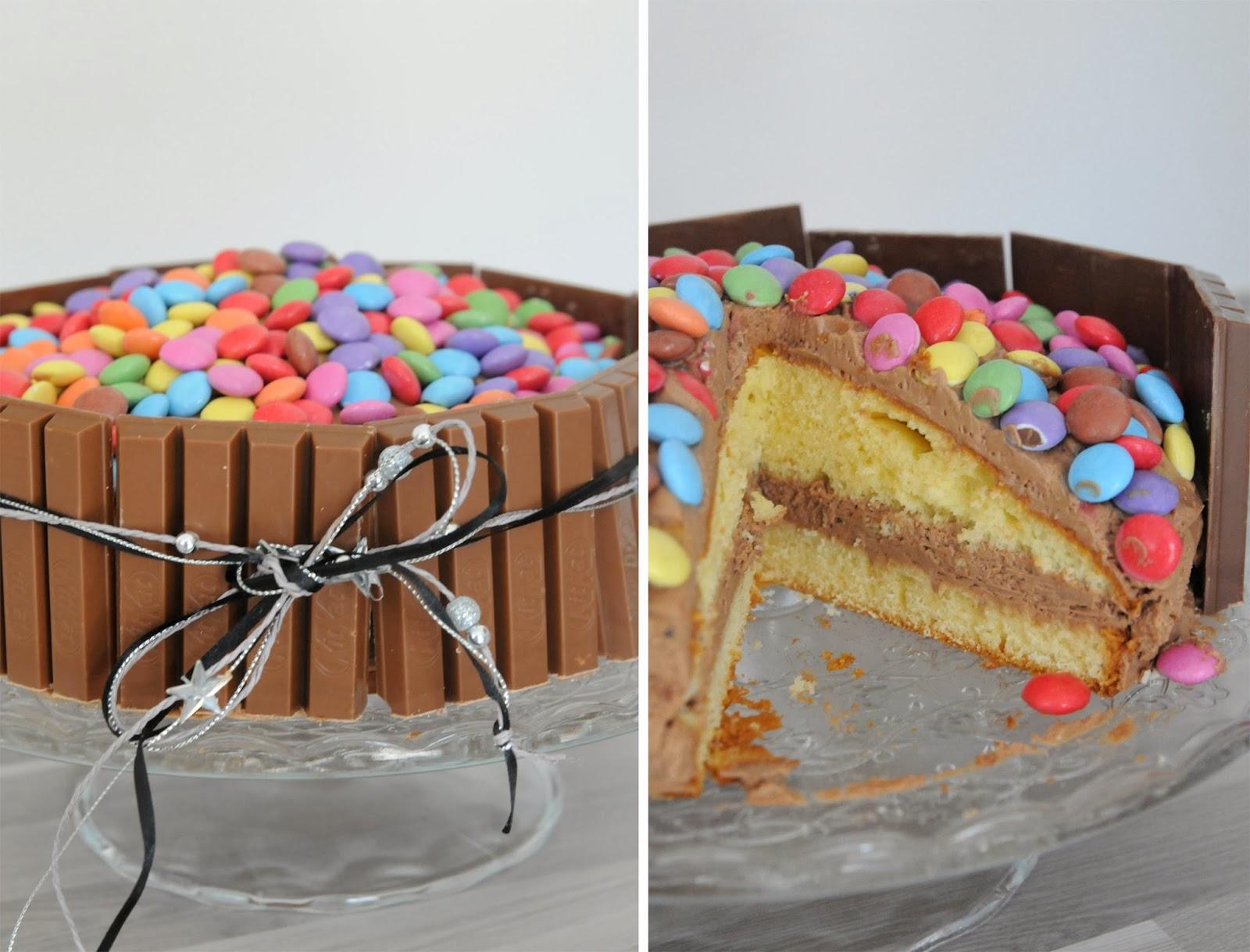 Bien connu 13 desserts, chacun: Gâteau Kit Kat et Smarties pour un anniversaire!! YF11