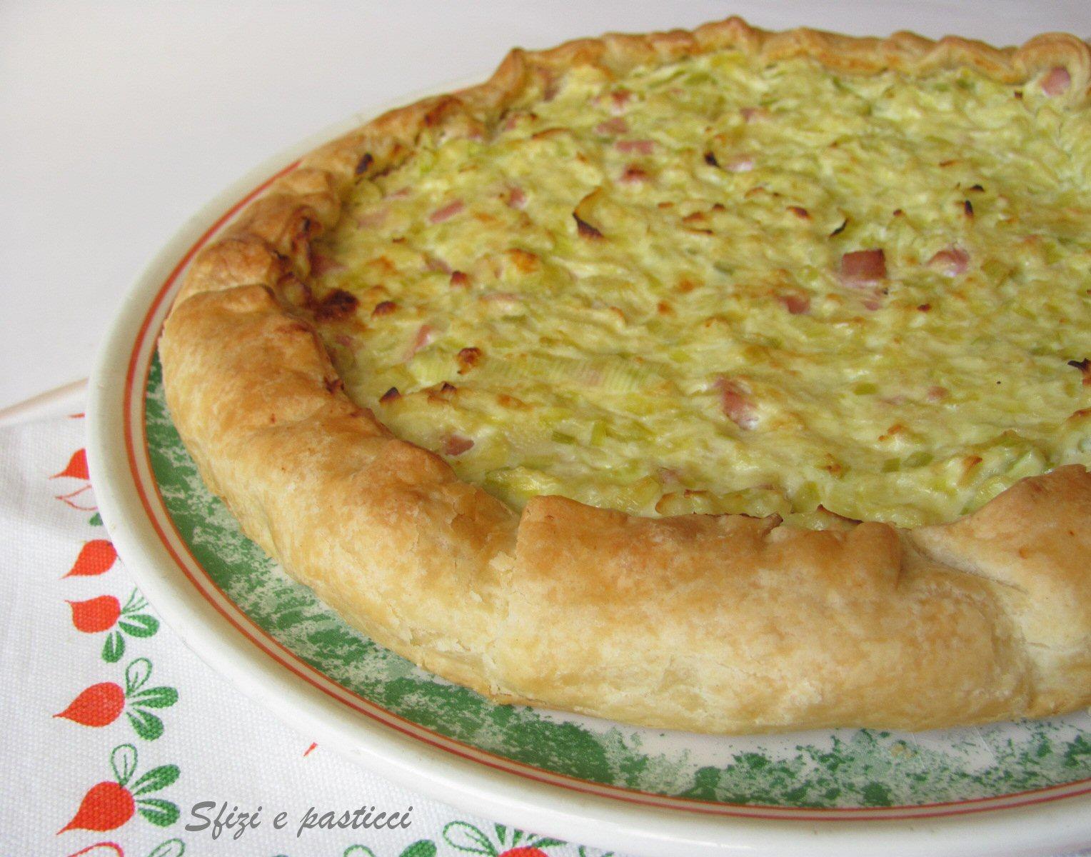 Torte salate con pasta sfoglia prosciutto cotto