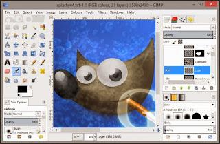صورة برنامج تعديل الصور gimp
