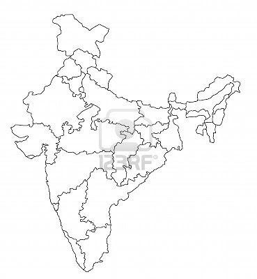 Laminas para Colorear | Coloring Pages: Mapa y Bandera de India para ...