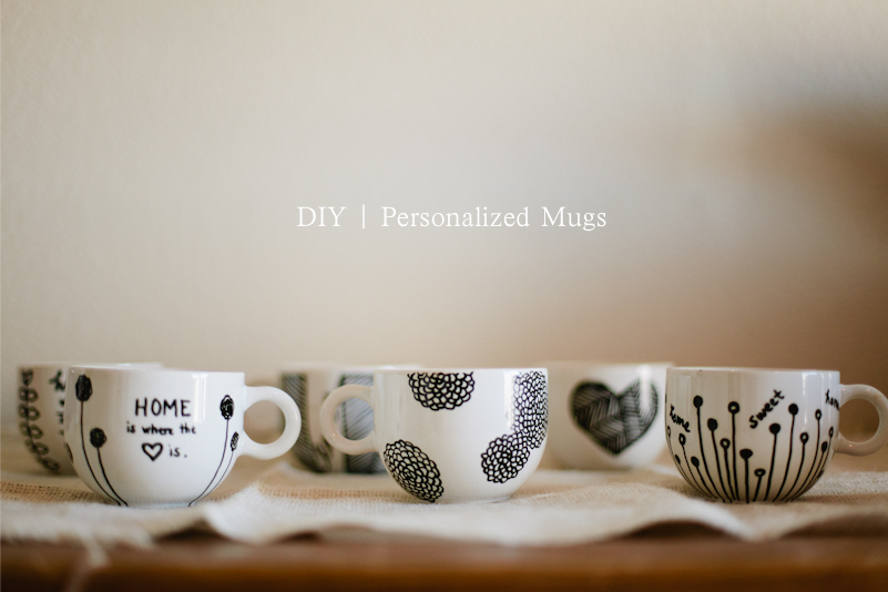 Personalized Mugs. Add custom text and art to one of these coffee mugs, travel mugs or shot glasses! No Minimums.