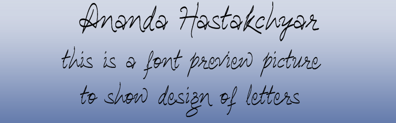 Ananda hastakchyar Devanagari font