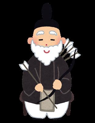 雛人形のイラスト「隋臣・左大臣」