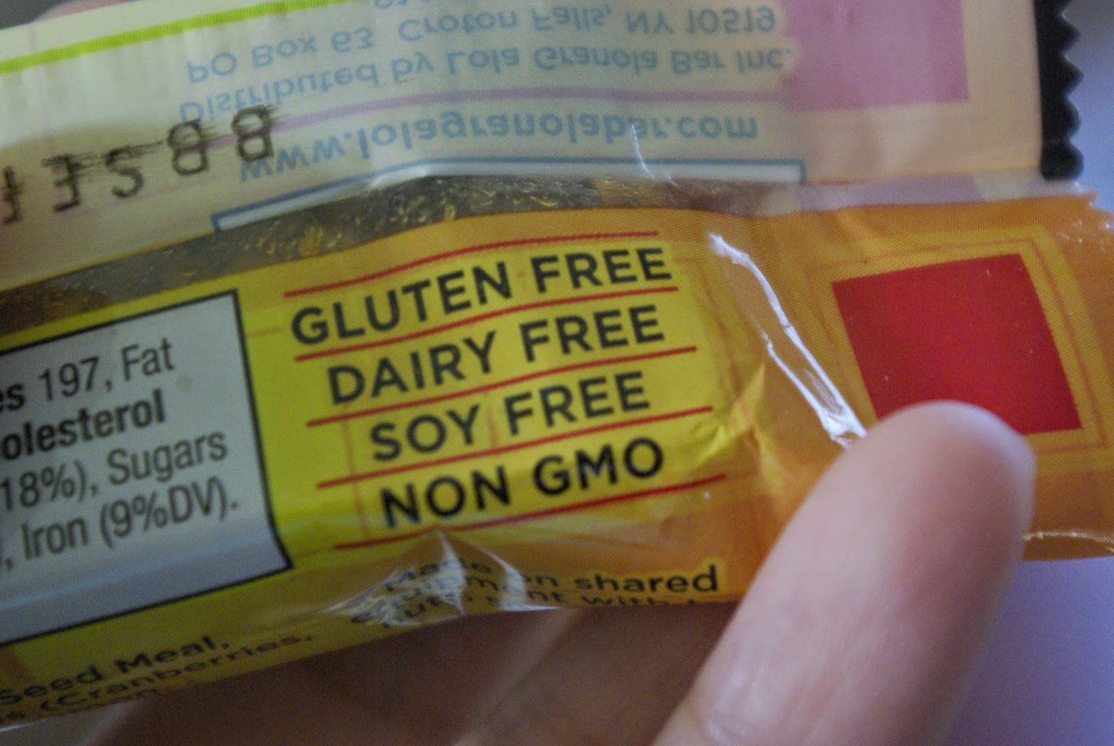 Gluten-free, dairy-free, soy-free and non-GMO