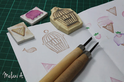 Rubber Stamp Carving // photo by Melani A - magsbeadscreation.com