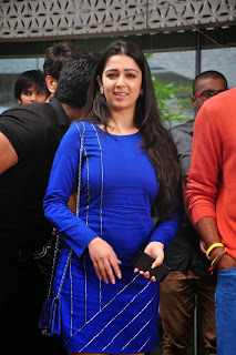 Actress Charmi Kaur Latest Pictures in Short Dress with R Rajkumar Movie Team at Yes Mart 0001