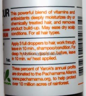 Yarok feed your youth hair scalp serum