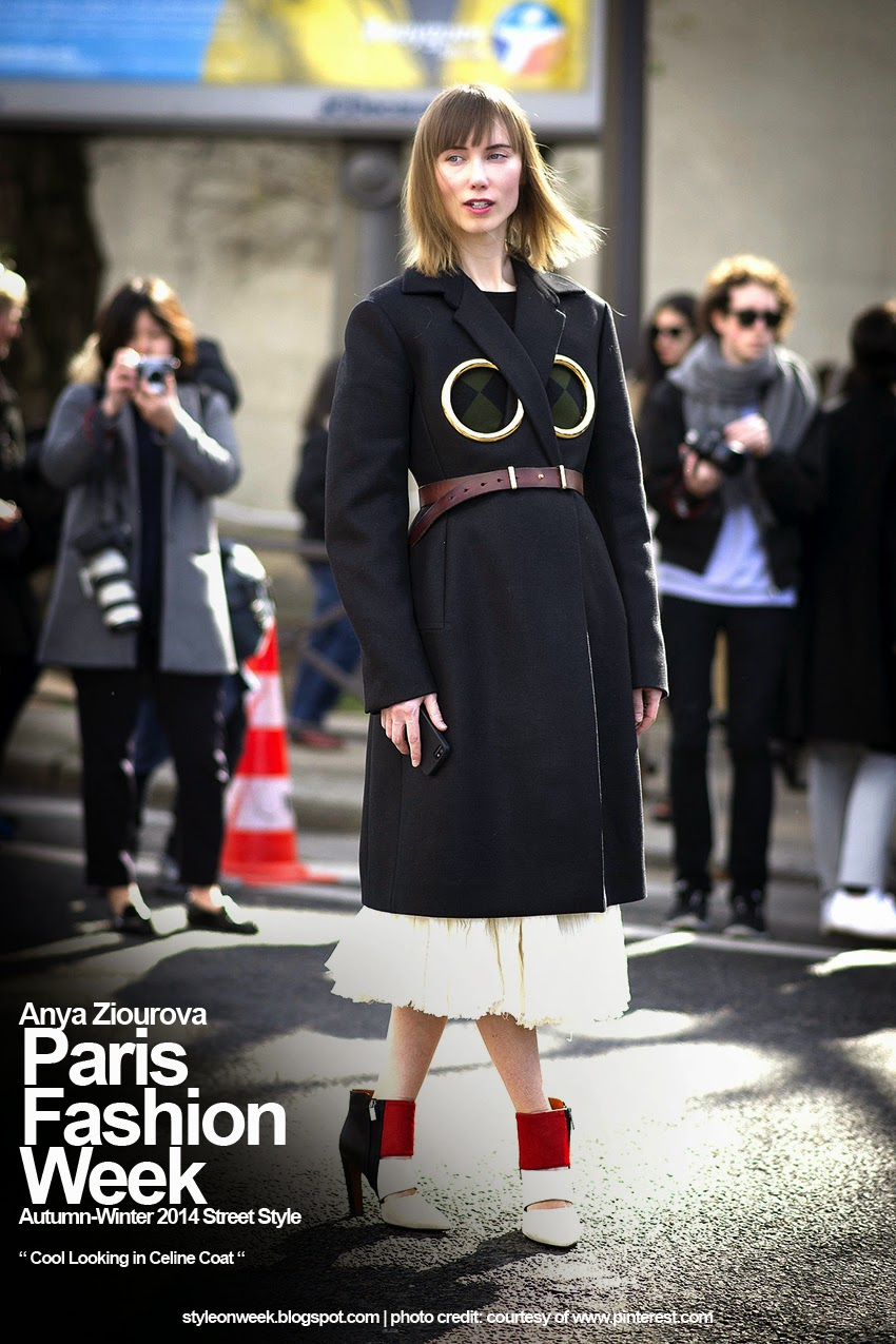 Paris Fashion Week Autumn-Winter 2014 Street Style - Cool Looking in Celine Coat