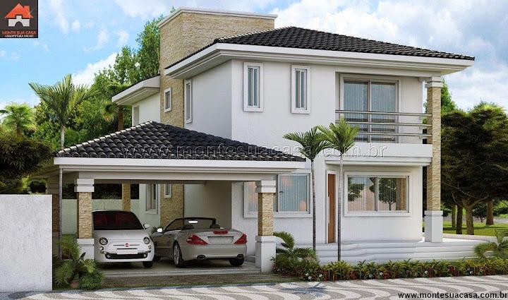 Projeto de casas projeto de sobrado com 4 quartos for Casa moderna 2 andares 3 quartos