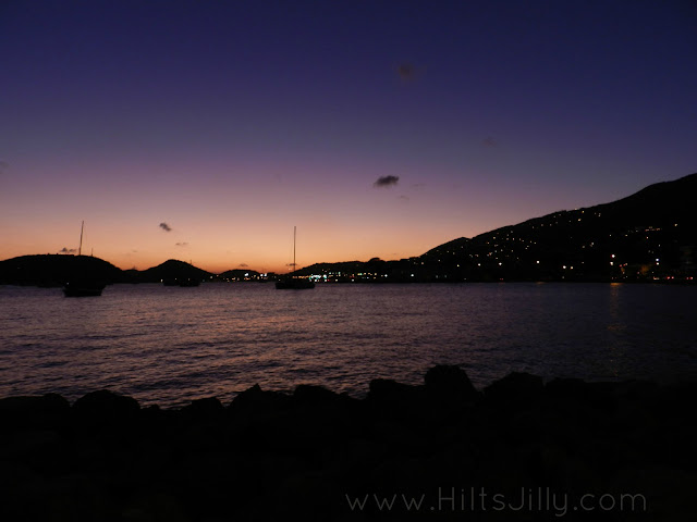 Nighttime harbor Charlotte Amalie St. Thomas Hi! It's Jilly