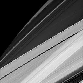 Modern art in Saturn's rings