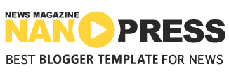 Nanopress - News magazine Blogger Template (Slider)