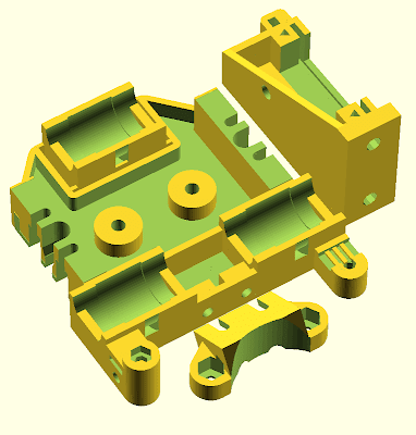 Lasercut Mendel90 Dual Extrusion X Carriage OpenSCAD Plate