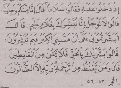 Surat Al Hijr ayat 52 sampai 56