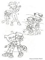 Gambar Ruddy Tabootie Dan Penny Sanchez Untuk Diwarnai