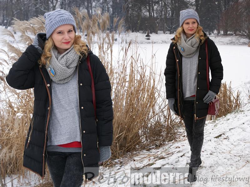 zima stylizacje z kurtka