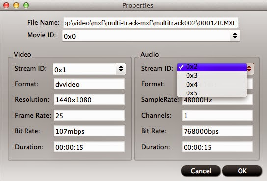 convert MXF to ProRes with audio