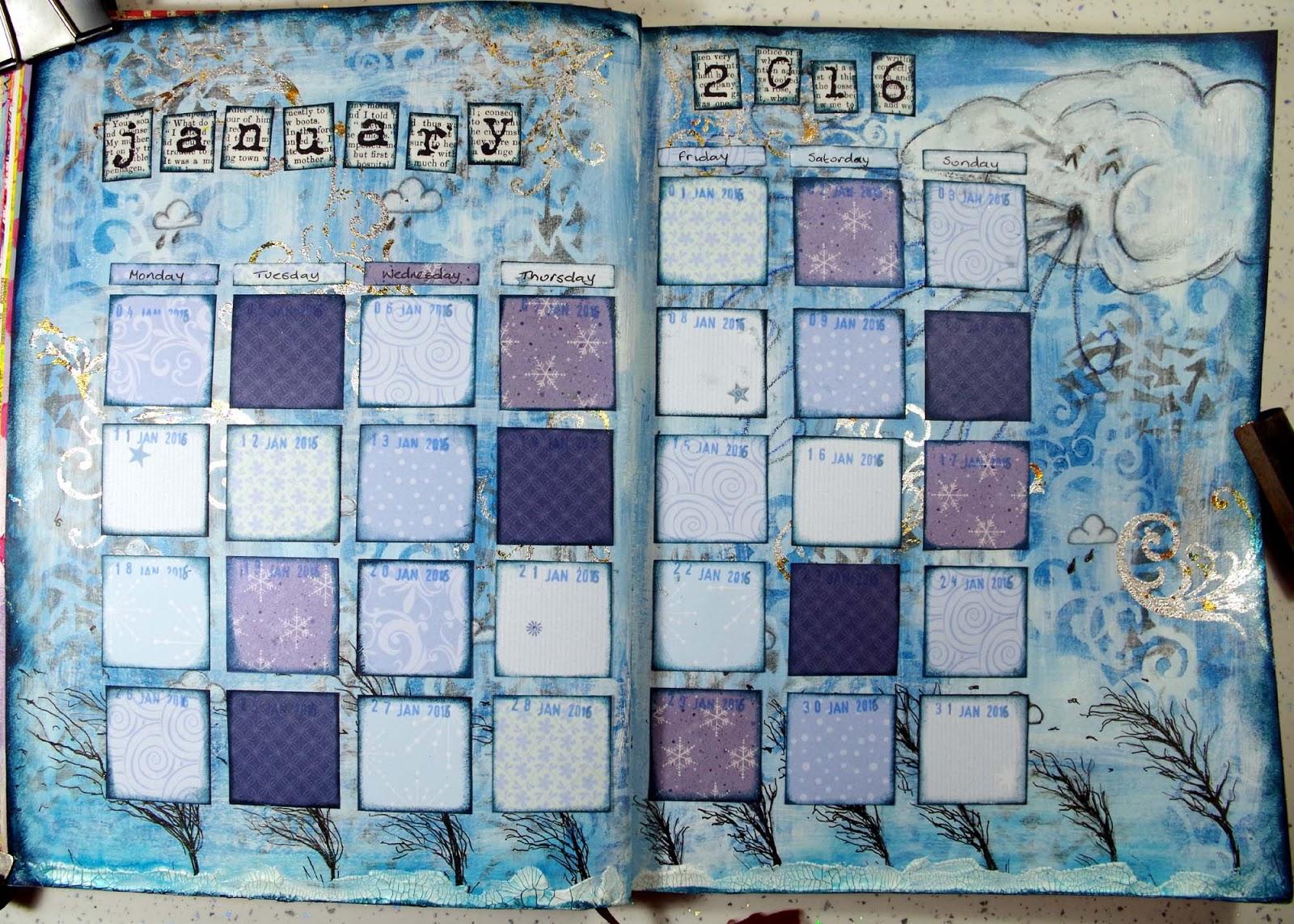 Calendar Art Journal : The hobby room michelle webb calendar art journal