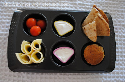 snack served in a muffin tin