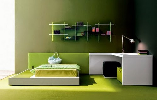 amazing green bedroom wall paints