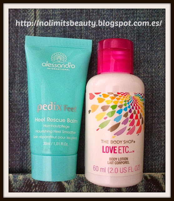 Pedix Feet Heel Rescue Balm & Loción corporal LOVE ETC de The Body Shop