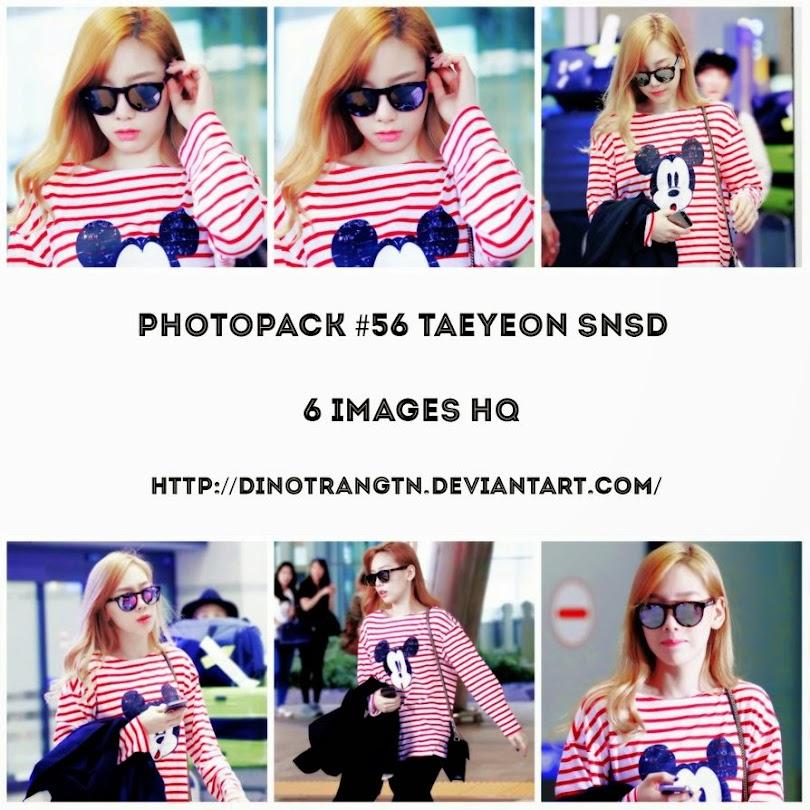 ミッキーTシャツを着た空港の少女時代テヨンの組合わせ画像