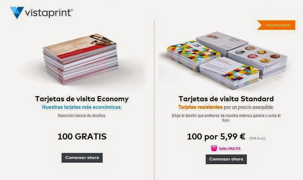 100 Tarjetas De Visita GRATIS Con Vistaprint